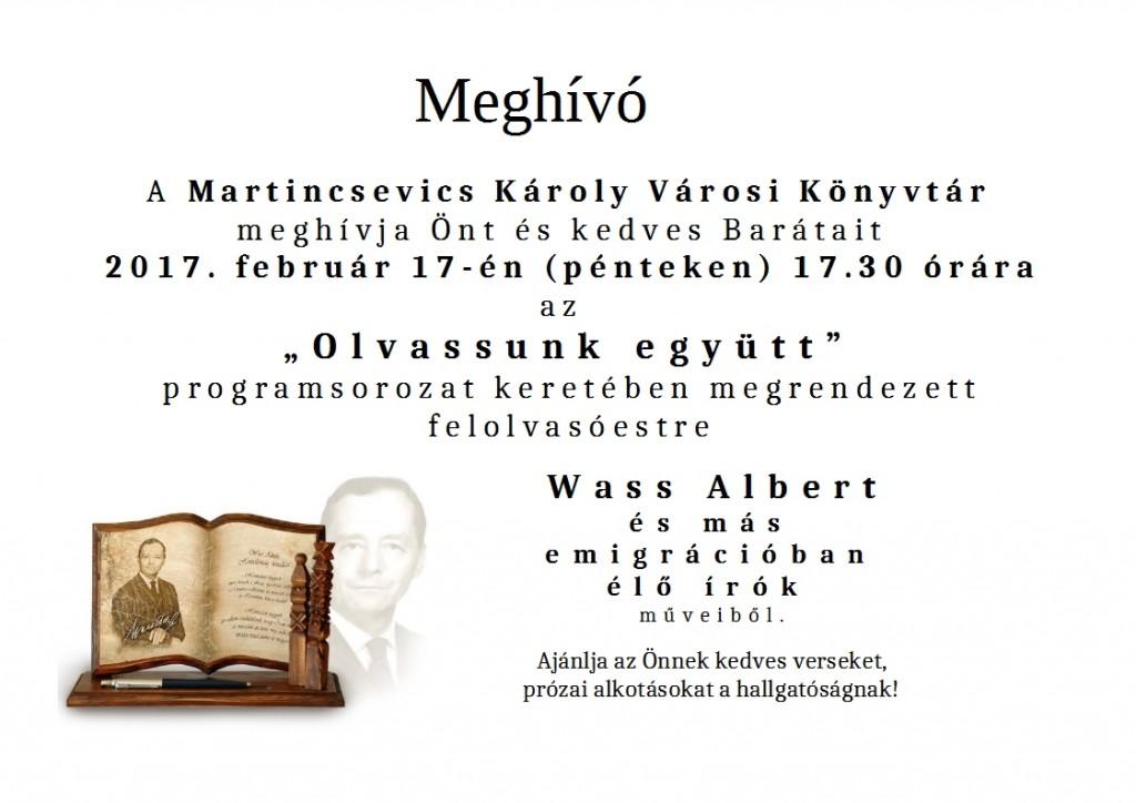 olvassunk együtt Wass